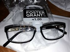 FOSTER GRANT READING GLASSES+1.00 NEW IN PACK