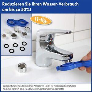 Armaturen-Wassersparset 11 teilig Wassersparer Wasserhahnaufsatz Brausekopf