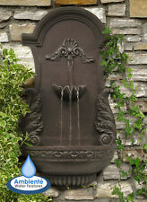 Wall Mounted Water Feature Drinking Fountain Trough Cascade Classic Stone Garden