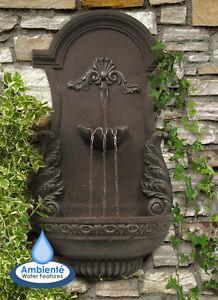 Wall Mounted Water Feature Drinking Fountain Trough Cascade Classic Stone Garden