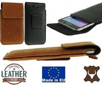 FLAP RICARDSSON GENUINE LEATHER BELT LOOP POUCH HOLSTER CASE COVER FOR PHONES