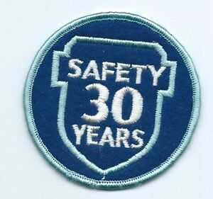 Greyhound Bus, driver patch, 30 Safety Years. 3 inch diameter