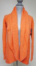 Bright Orange !! $1098 Ralph Lauren BLACK LABEL 100% Cashmere circle cardigan M