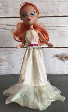 "LISA FRANK Fashion Doll - Red Hair - Blue Eyes - White Gown - 11"" Tall"
