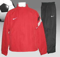 New NIKE Men's Tiempo FOOTBALL Tracksuit Red and Black Medium
