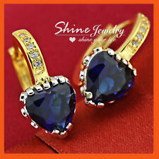 Unbranded Hoop Sapphire 18k Fashion Earrings