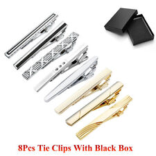 Classic Skinny Silver Gold Tie Clip Bar Pin Clasp Set Kit Lot For Business Party