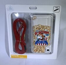 Disney Parks D-Tech iPhone XR Phone Case Main Street Popcorn Case w/ Strap NEW