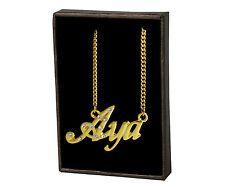 Custom Made Accessories Valentines Day Gifts Aya Name Necklace 18k Gold Plated |