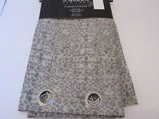 J Queen Carmel Leopard Grommet Window Curtain Panel Pair Grey $165 95L