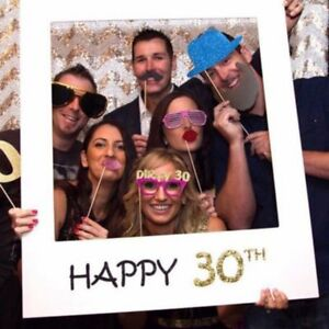 16/18/30/40/50/60th 21st Frame Photo Booth Props Happy Birthday Paper Party