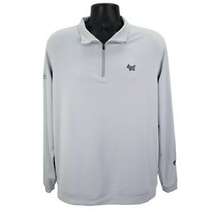 Scotty Cameron Peter Millar Wicking 1/4 Zip Pullover Lt. Gray Men's Size Large L