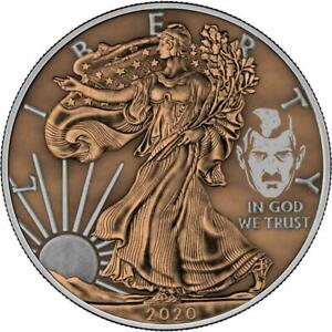 USA 2020 1$ Liberty Space Colour Edition - PAINT IT BROWN - 1 Oz Silver Coin