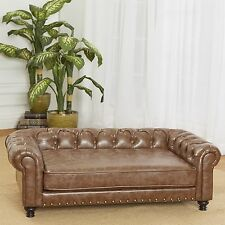 Enchanted Home Pet Wentworth Tufted Dog Sofa with Cushion