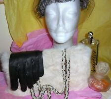 Wilson's Leather Maxima Fur Bag Free Leather Gloves Ultra Chic Style
