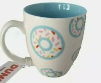 "Dunkin Donuts 17oz ""FALL 2020"" Ceramic coffee tea Mug blue/white donuts cup new"