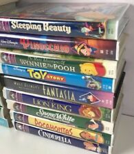 Disney VHS Lot 9 Masterpiece Sleeping Beauty Lion King Toy Story Cinderella Pooh