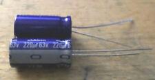 10 PCs Nichicon ALUMinum Electrolytic CAPACITOR 220UF 63V (C9B5)