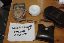 Working Weston Master V Exposure Meter with Case and Invercone - VGC