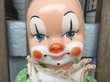 "Vintage  Clown Doll  1960s doll 24"" all original"