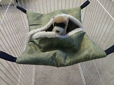 Ferret Hideaway Hammock - Green with Navajo Feather Graphic