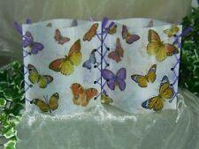1 Deko Windlicht Schmetterlinge Vintage Unikat Tischlicht Mitbringsel