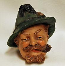 Rare Vintage JM Johann Maresch Figural Man Inkwell Humidor Tobacco Terracotta