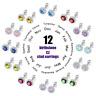 Women Fashion Diamond Stainless Steel Classic Ear Stud Earrings Set Jewelry e600