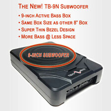"""The New TightBass 9"""" Under seat Subwoofer in an 8"""" Box Size - FREE 5m RCA Cable!"""