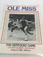 Ole Miss 1982 Basketball Program The Kentucky Game Tad Smith Coliseum