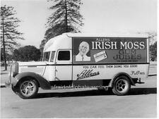 "Photo 1940s Australia ""Allen's Irish Moss Gum Jubes Truck"""