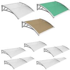 Vordach Überdachung Haustürdach Pultvordach Alu Kunststoff 12 Größen 3 Farben