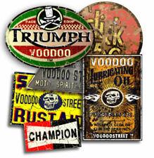 Hot Rod, Triumph Aufkleber Rost Packung von Voodoo Strasse™, Retro, Ölig , Cafe
