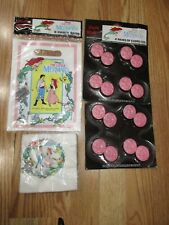 4pc Lot Beach Disney's Little Mermaid Birthday Party Goods Multi-color NOS