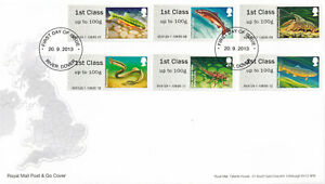 (44515) GB FDC Post & Go Rivers Freshwater Life River Dover 2013