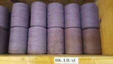 Rug Warp- Lot of 10 (1/2 lb ea.)- Cotton/Polyester Blend- Color Dark Lilac