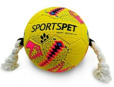 SportsPet Football Dog Puppy Play Fetch Walk Run Playtime Ball Colours vary