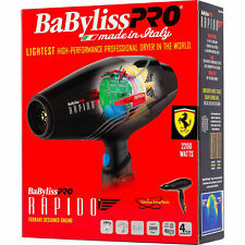 BF7000 BABYLISS PRO RAPIDO LIGHTWEIGHT 2000 WATT HAIR BLOW DRYER FERRARI ENGINE