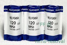 3 rolls FUJICHROME VELVIA 50 120 Color Slide Film Medium Format Fujifilm