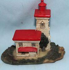 lighthouse figurine miniature resin The blockhouse point PEI Canada 1851