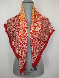 ADRIENNE VITTADINI Contemporary Print Silk Scarf Multicolor/Maroon, NWT