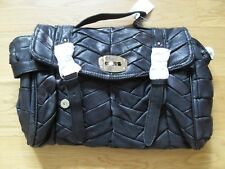 Black Leather Slouch Hobo Tote bag brand new with tags