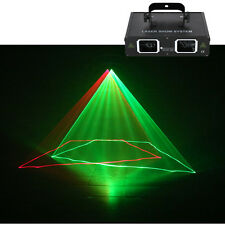 AUCD 2 Lens Red Green Beam DMX Laser Light Home Party DJ Club Stage Lighting