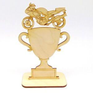 Motorrad Wettbewerb Holz Pokal Personalisiert Logo Meisterschaft Rennen Übung