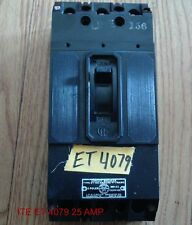 ITE ET4079 CIRCUIT BREAKER  3 POLE 100 AMP F FRAME 600 VAC 125/250 VDC 25 AMP