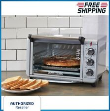 Convection Toaster Oven Countertop Pizza Stainless Steel Baking Broiling Cooker