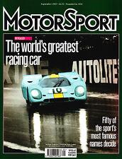 Motor Sport Sep 1997 -World's greatest racing cars, Dijon 1979, Lola T70, Turbo