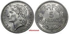 France Aluminum 1949 B 5 Francs Laureate head KM# 888b.2