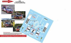 Decals 1/24 Ref 1006 Renault 5 Maxi Turbo Ragnotti Rally Tour Of Corse 1985