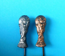 FIFA - FOOTBALL SOCCER WORLD CUP TROPHY - lot of 2. vintage official pin badge